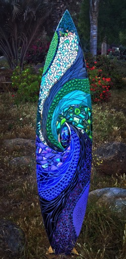 Kaleidoscope of the Sea Mosaic Surfboard