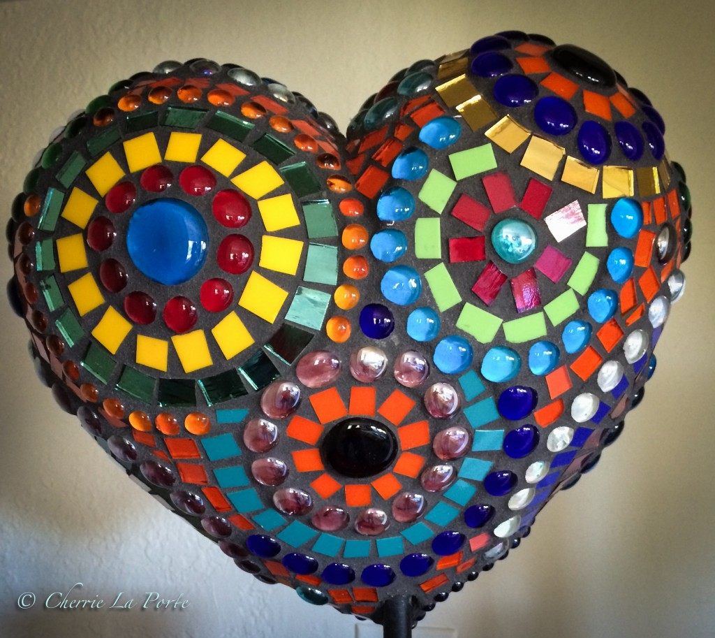 Mosaic Heart donation back