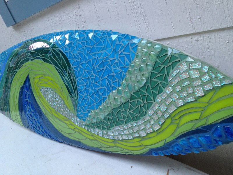 Mosaic Surfboard Completed