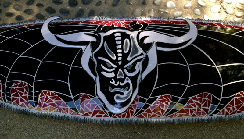 Stone Brewing Co. Mosaic Glass Surfboard